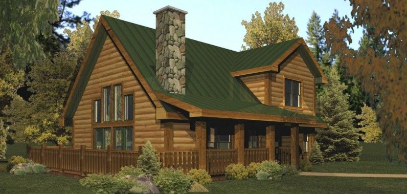 Buckhorn   Log Homes, Cabins And Log Home Floor Plans   Wisconsin Log Homes