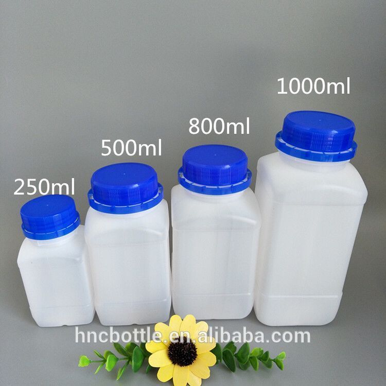 In Stock Hdpe White Plastic Bottle With Screw Cap 250ml 500ml