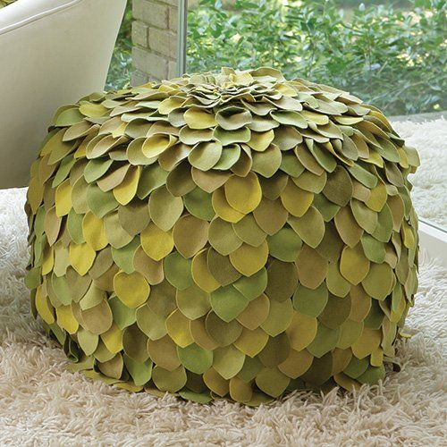 Have to have it. Global Views Multi-Color Leaf Poof Ottoman $697.50