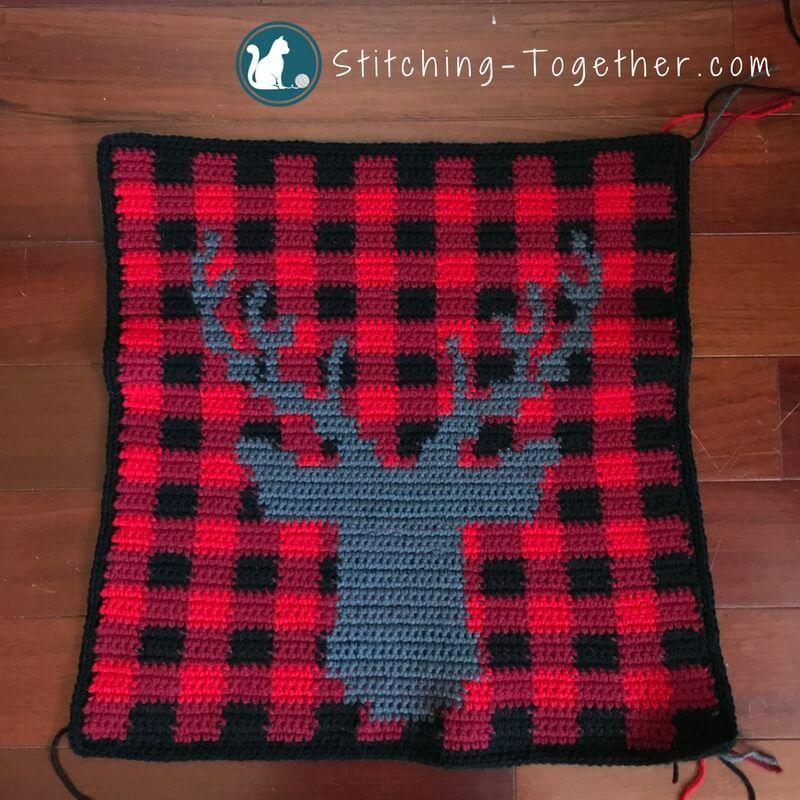 Buffalo Check Crochet Pillow Cover | Crochet pillow, Free crochet ...