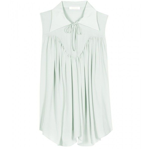 8a5a751002773 Chloé Silk Top (£420) ❤ liked on Polyvore featuring tops