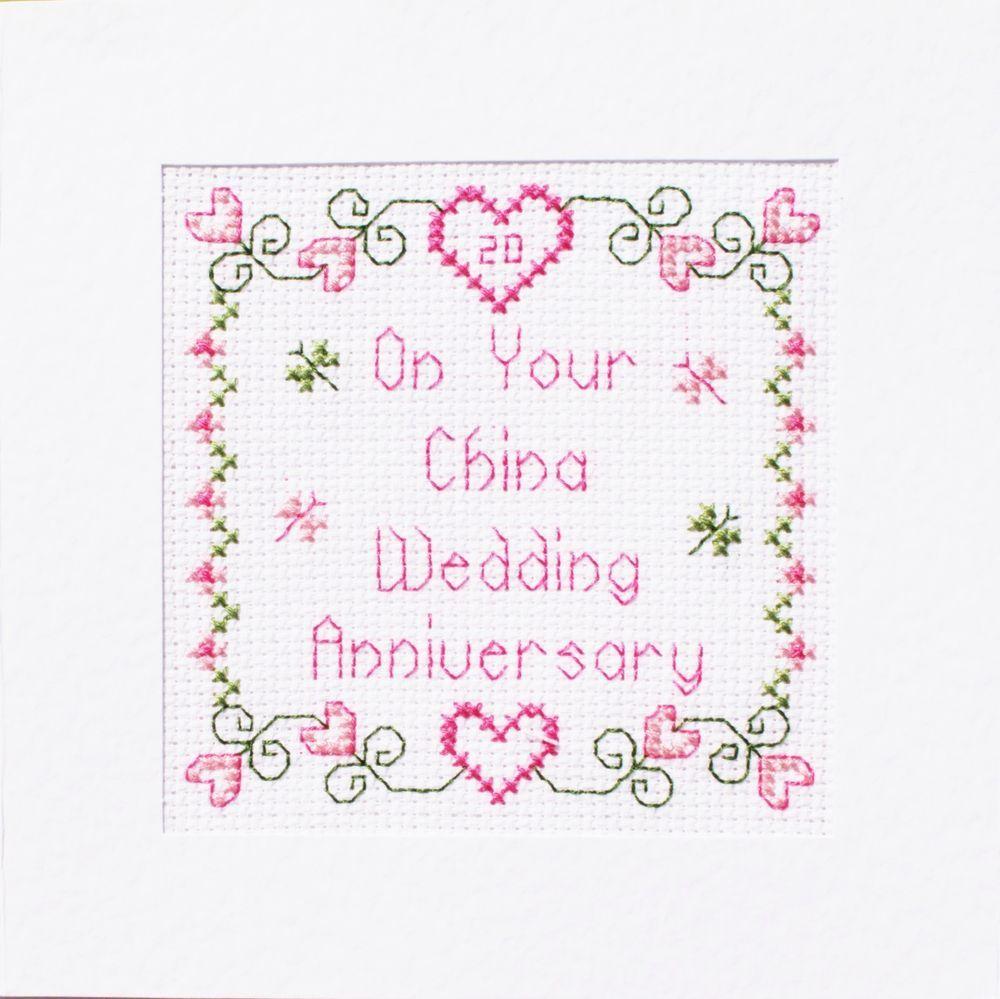 20th China Wedding Anniversary Card ღ Cross Stitch Kit ღ 5 Designs ...