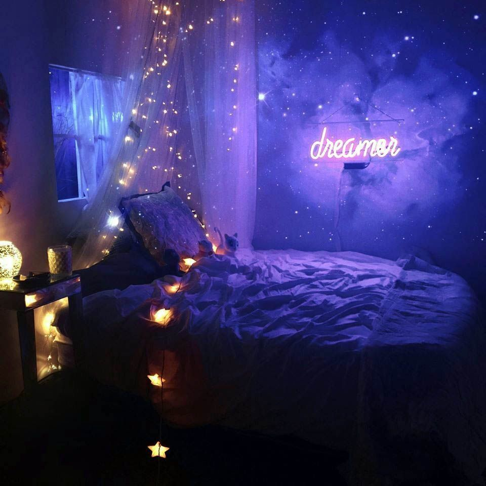 Lovely Bedroom Led Strip Lighting Ideas Only In Omah Home Design Apartmentbedroomdecor Roomdecorbedroom In 2020 Neon Room Decor Kids Room Lighting Aesthetic Bedroom