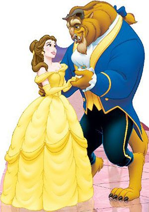 Belle And Beast Disney S Beauty And The Beast Lifesize