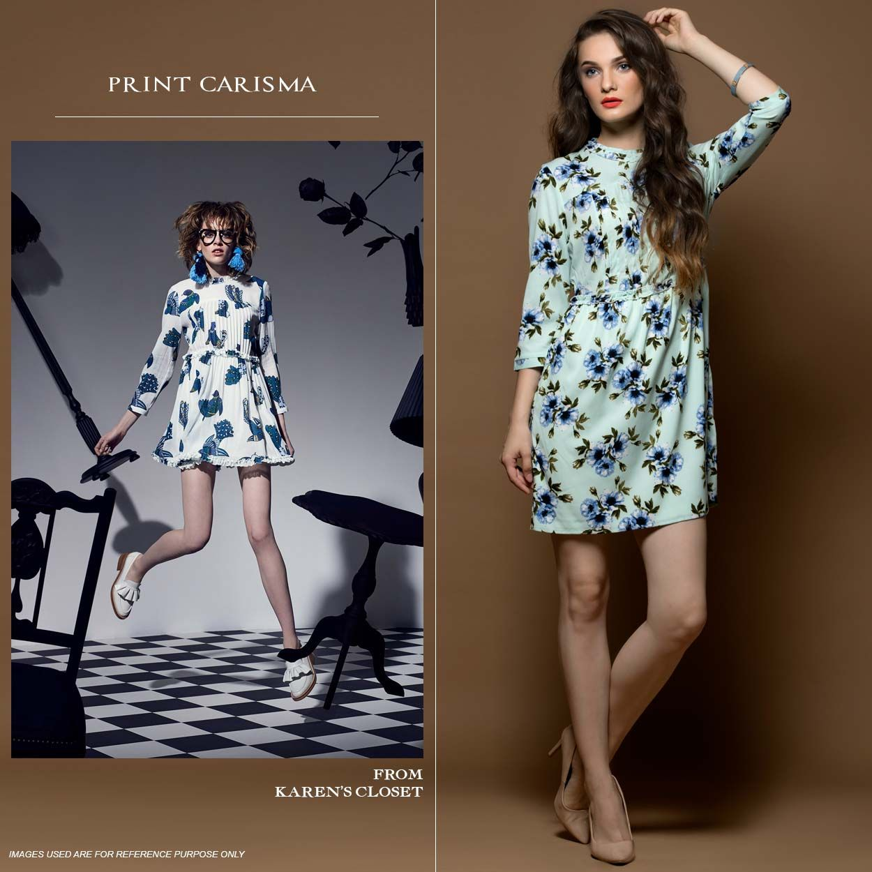 Show your love for prints wearing this printed dress it features