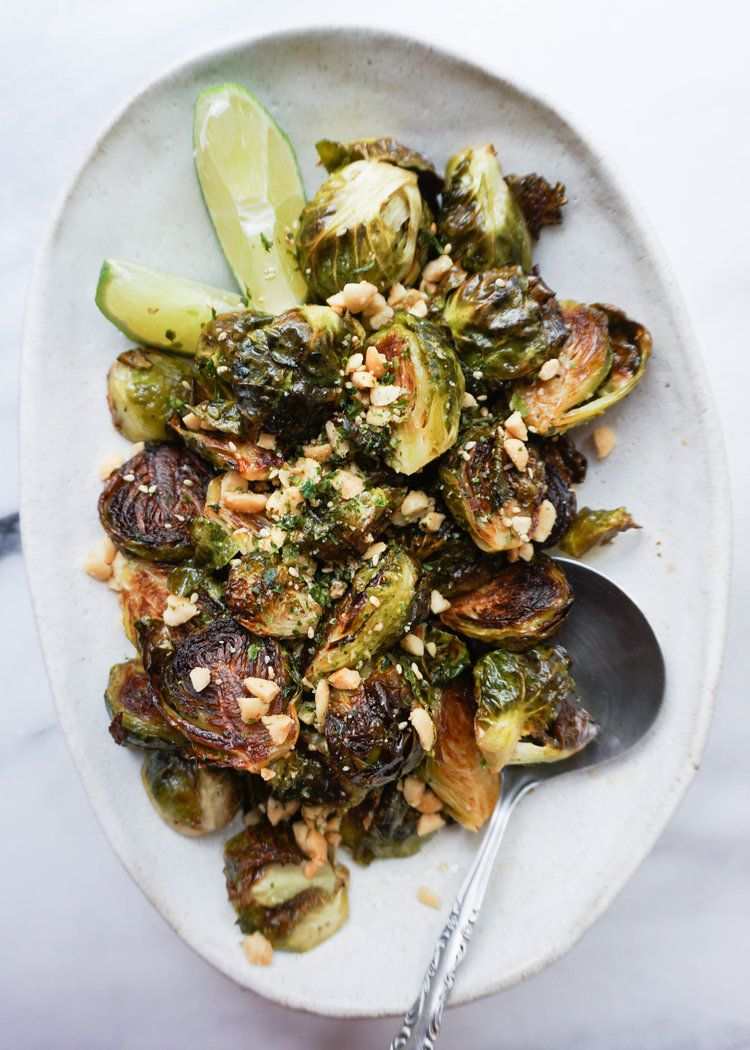 Crispy brussels sprouts with furikake fish sauce and