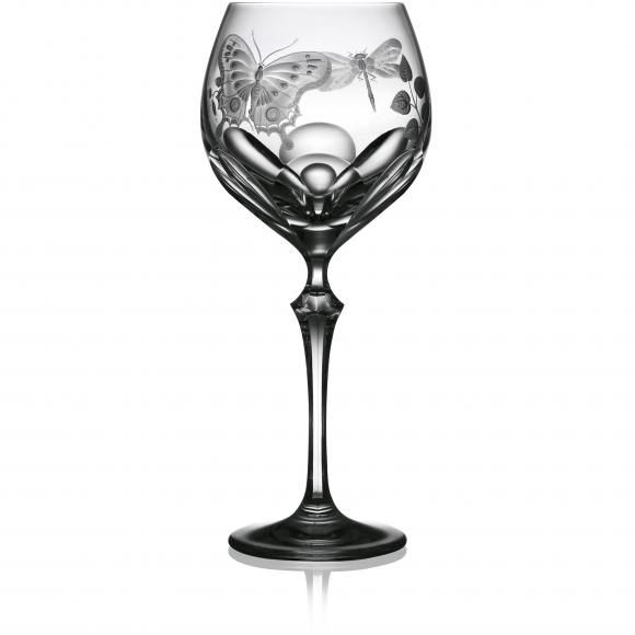 crystal Springtime White Wine Glasses