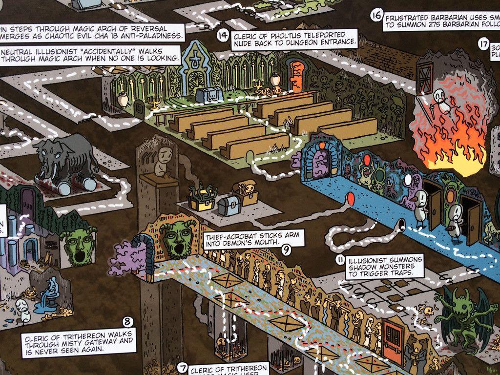 Tomb of Horrors Walkthrough Map Print – Mock Man Press | old