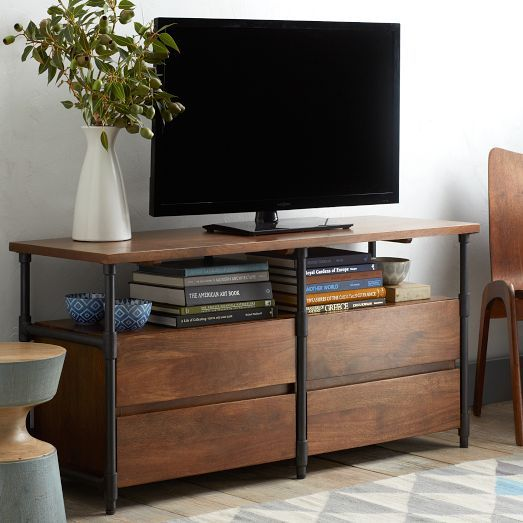 Pipe Media Console Long west elm $799