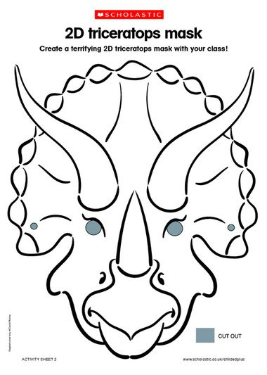 2d Triceratops Mask