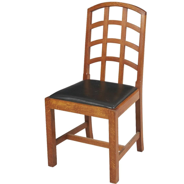 Ambrose heal arts and crafts oak lattice back desk chair