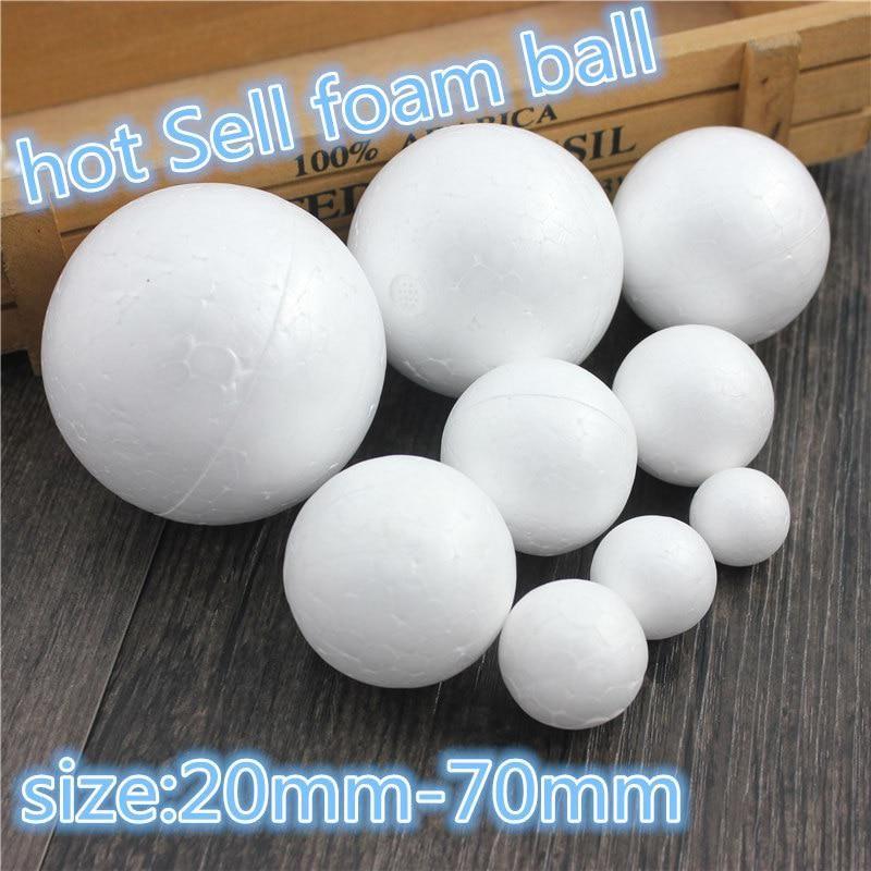 9 kinds different size Polystyrene Styrofoam Foam Ball White