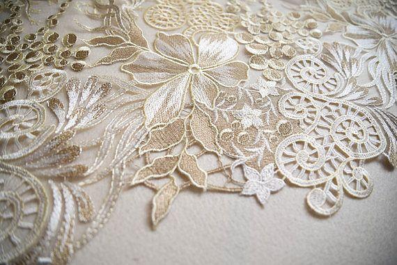 10 Colors Floral Embroidered Scalloped Venise Guipure Applique Lace Trim Burgundy
