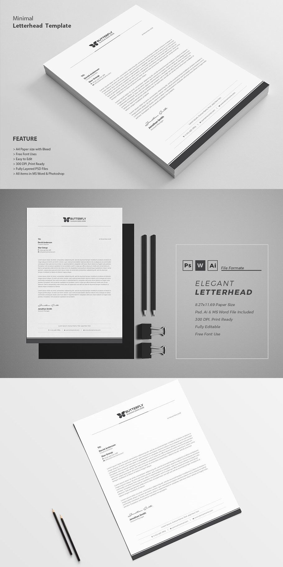 Letterhead professional letterhead template letterhead