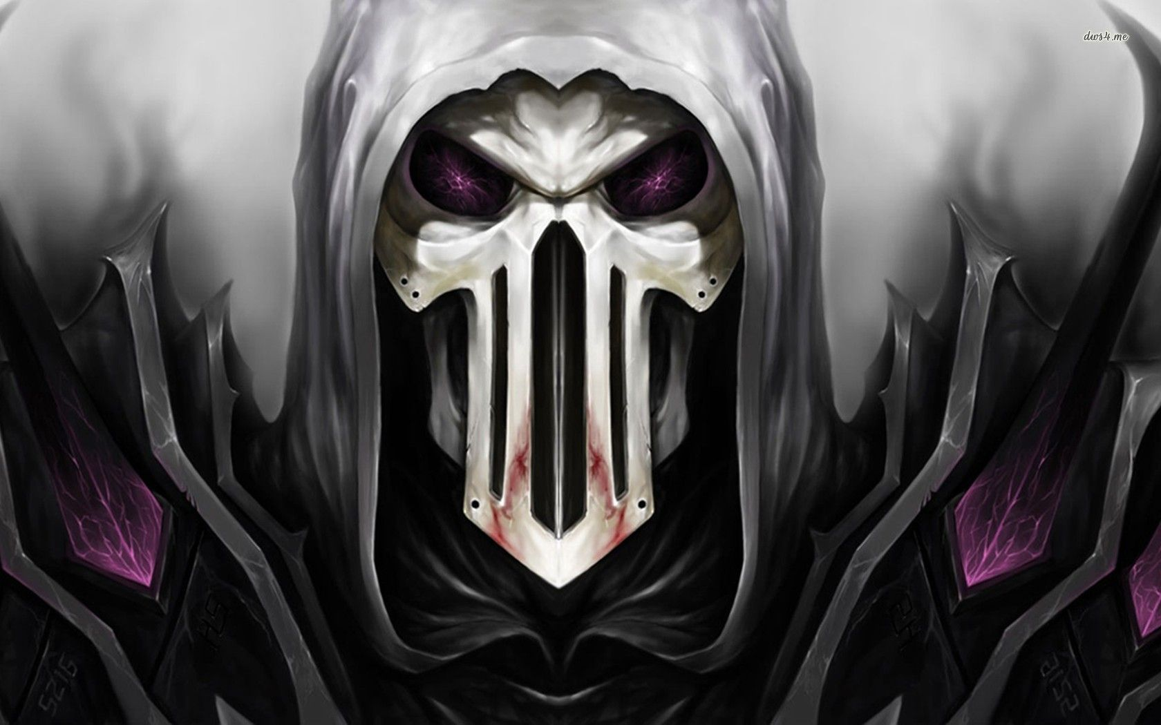To Download or Set this Free Undead Hooded Skull Wallpaper