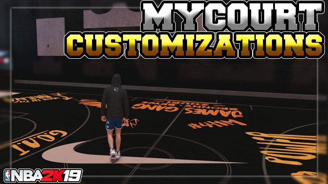 NBA 2K19 | HOW TO CUSTOMIZE YOUR MyCOURT (100% Quick and