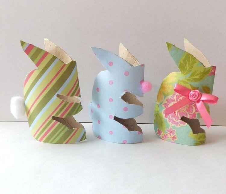 Bricolage facile pour p ques rond de serviette en rouleau de papier r cup rouleaux papier - Bricolage facile en papier ...