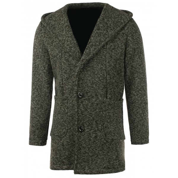 53.52$  Watch here - http://dioq6.justgood.pw/go.php?t=204596810 - Patch Pocket Heathered Hooded Coat 53.52$