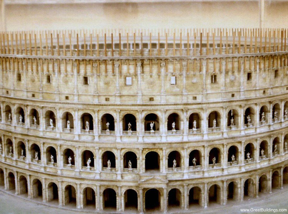 Roman Colosseum Rome Italy Ancient Architecture