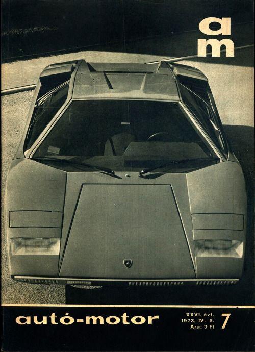 1973 Lamborghini Countach LP 400 (Bertone). Autó-Motor, 1973. IV. 6 ...
