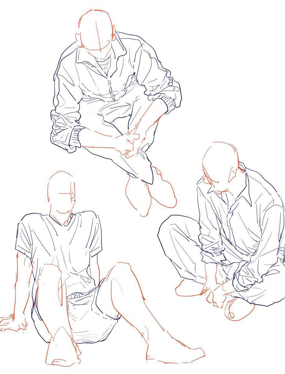 Bocetos hombre sentado | art projects in 2019 | Drawing ...