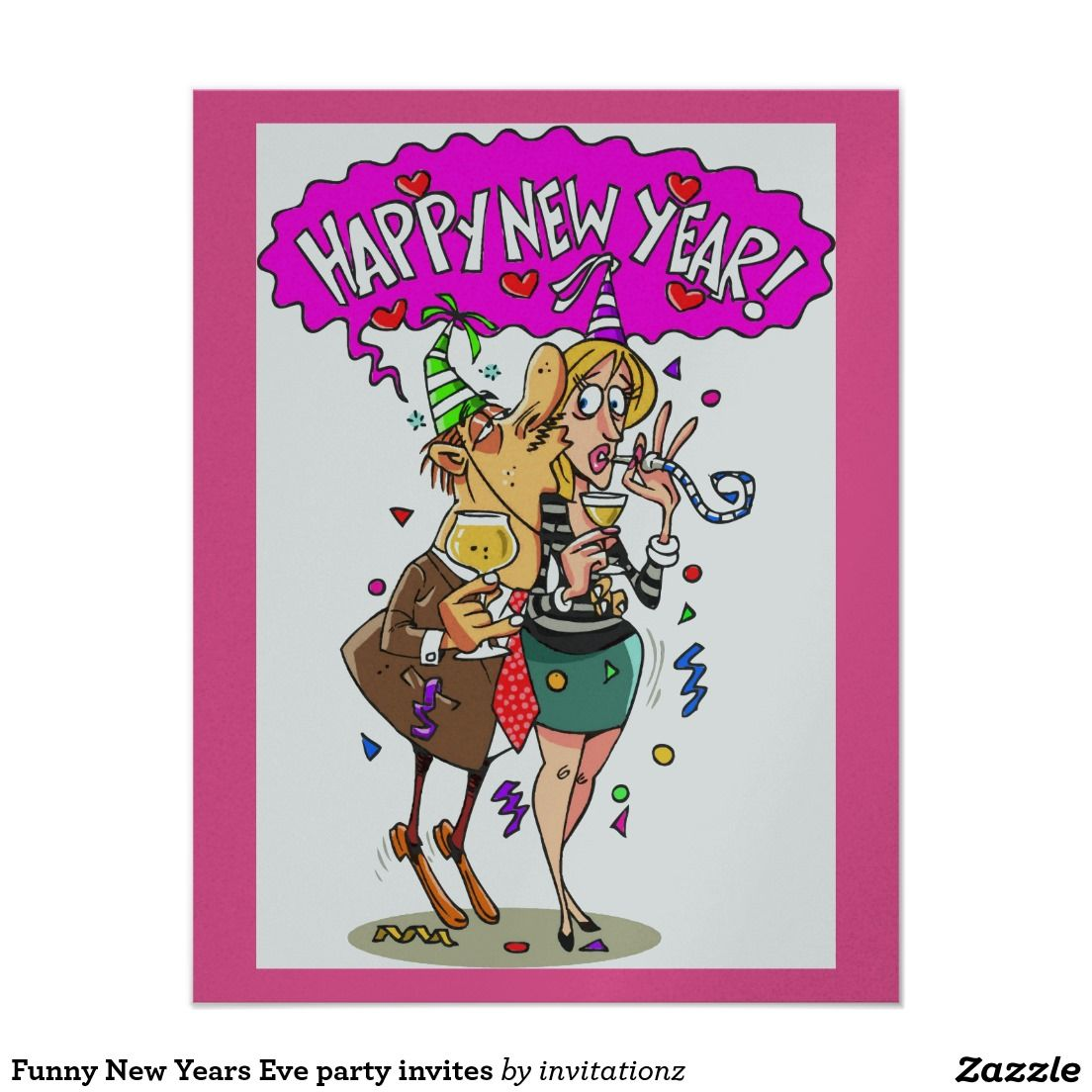 Funny New Years Eve party invites | New Year\'s Eve Food | Pinterest ...
