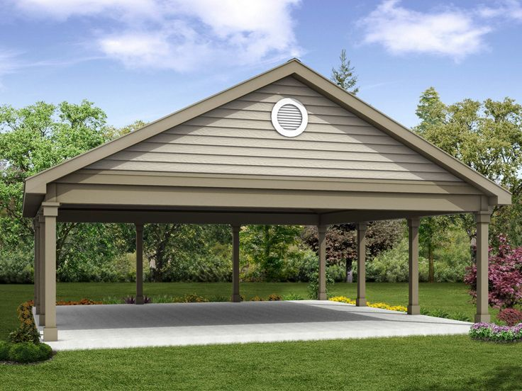 051G0102 Carport Plan Size 26'x26' Carport designs