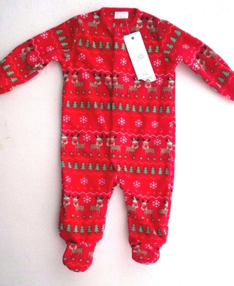 f883e4b94 Baby Boy Girl Christmas Fleece Babygrow Sleepsuit 0-3 Months #FF Babies  Clothes,