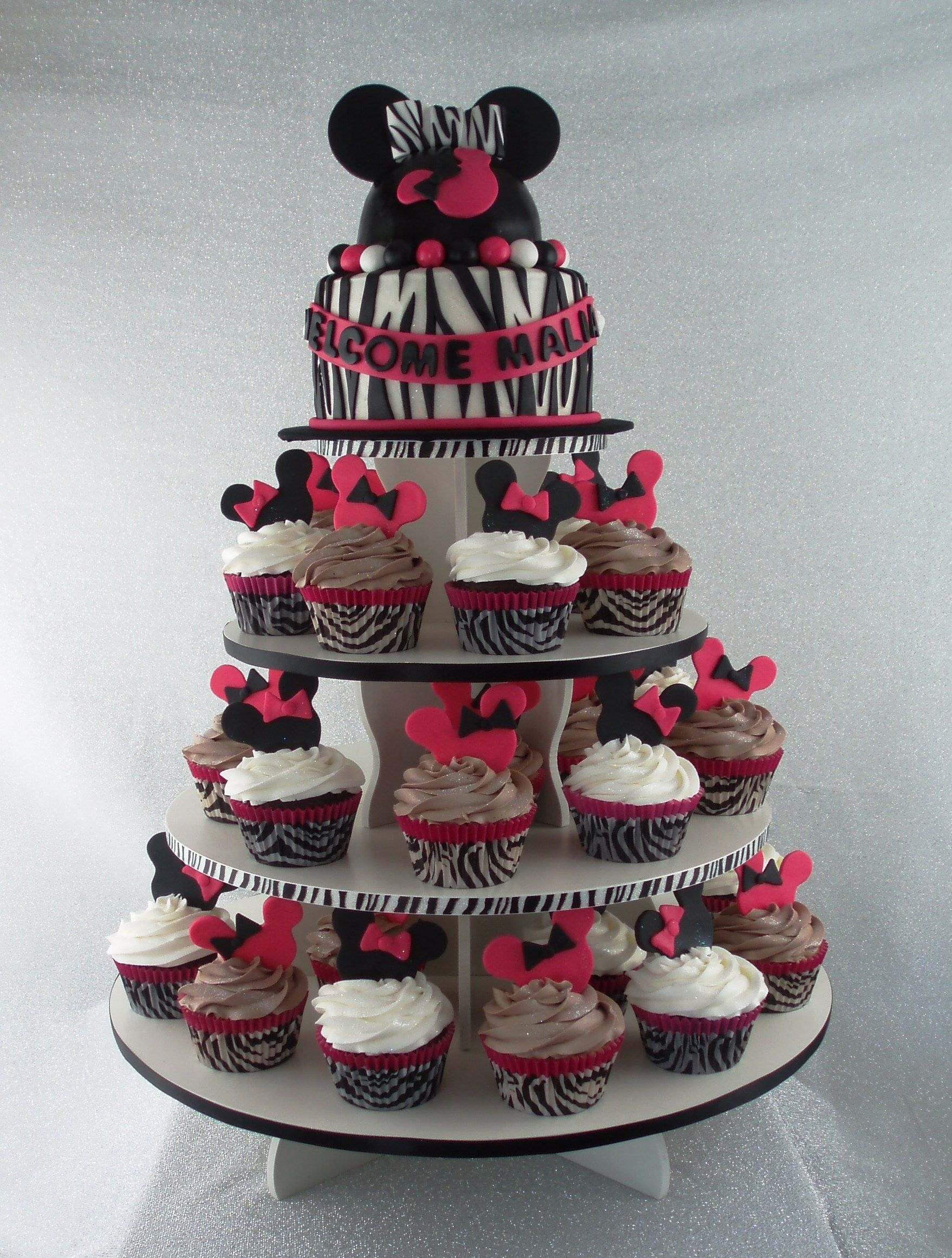Minnie mouse baby shower cake all things baby for Baby minnie decoration ideas