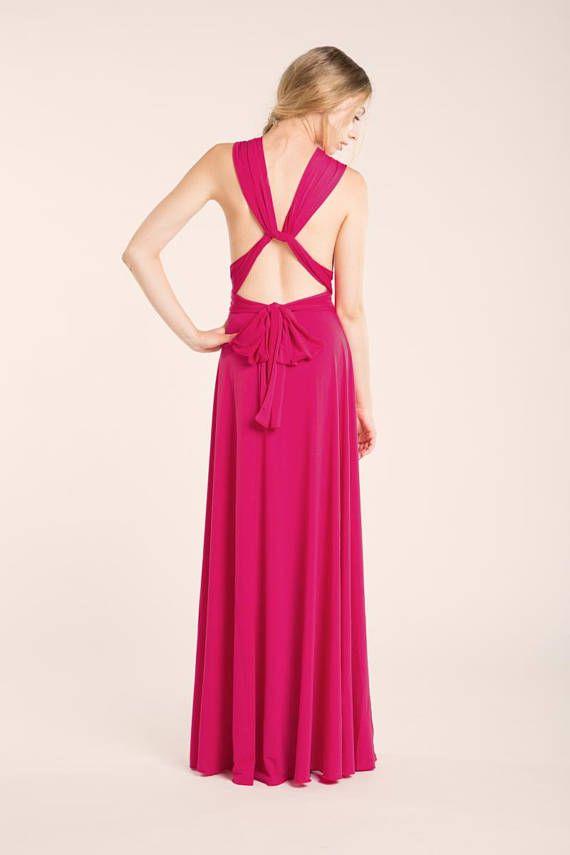 68013fa9678 SALE Hot pink infinity dress