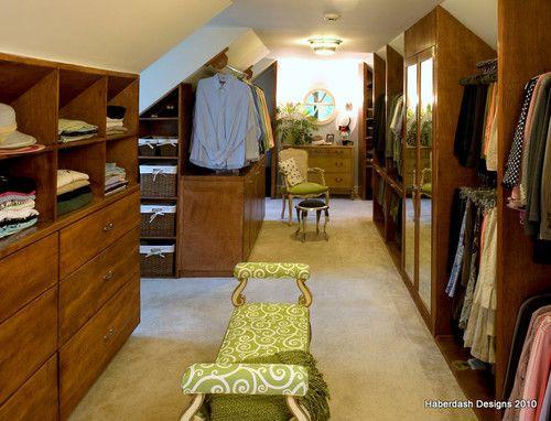 9 Tips To Turn An Attic Into A Boutique Closet Slanted Walls Master Closet Design Attic Closet