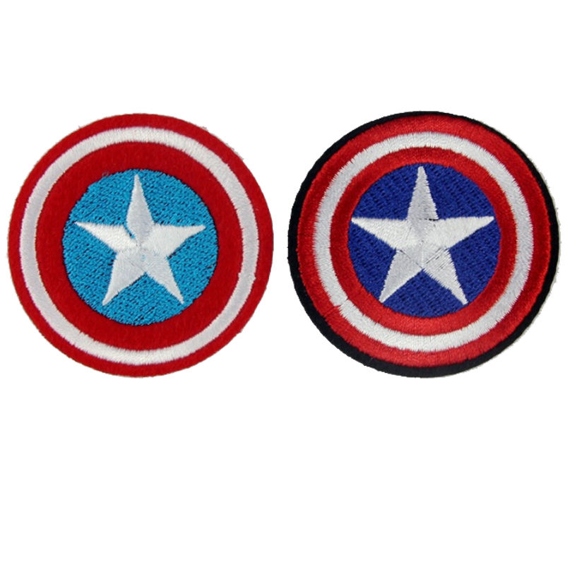 Captain America Superhero Embroidered Iron On Patch