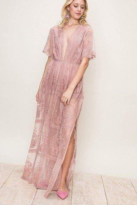 e6ac6a9675e8 Gemma Lace Blush Maxi Dress Nursing Friendly Dress