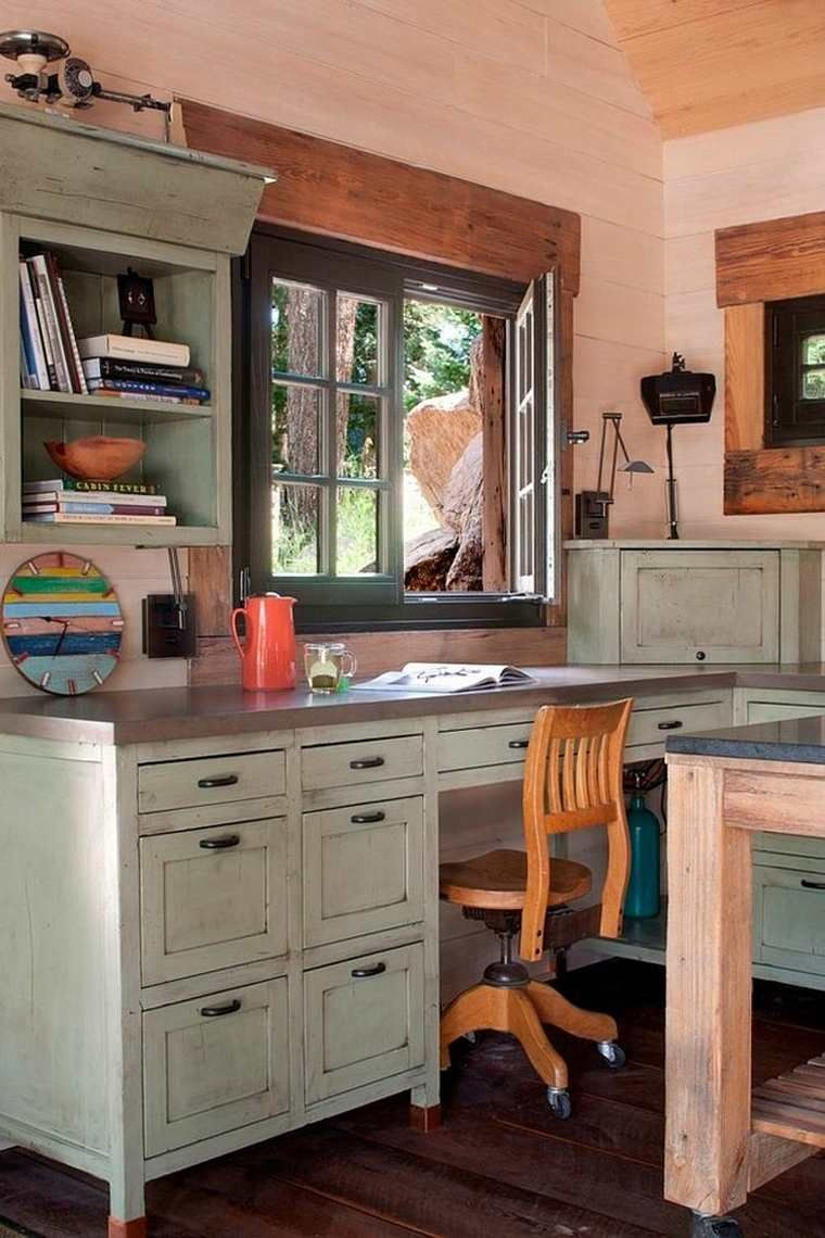 Home Office Desk 35 Shabby Chic Ideas With Images Rustic Home
