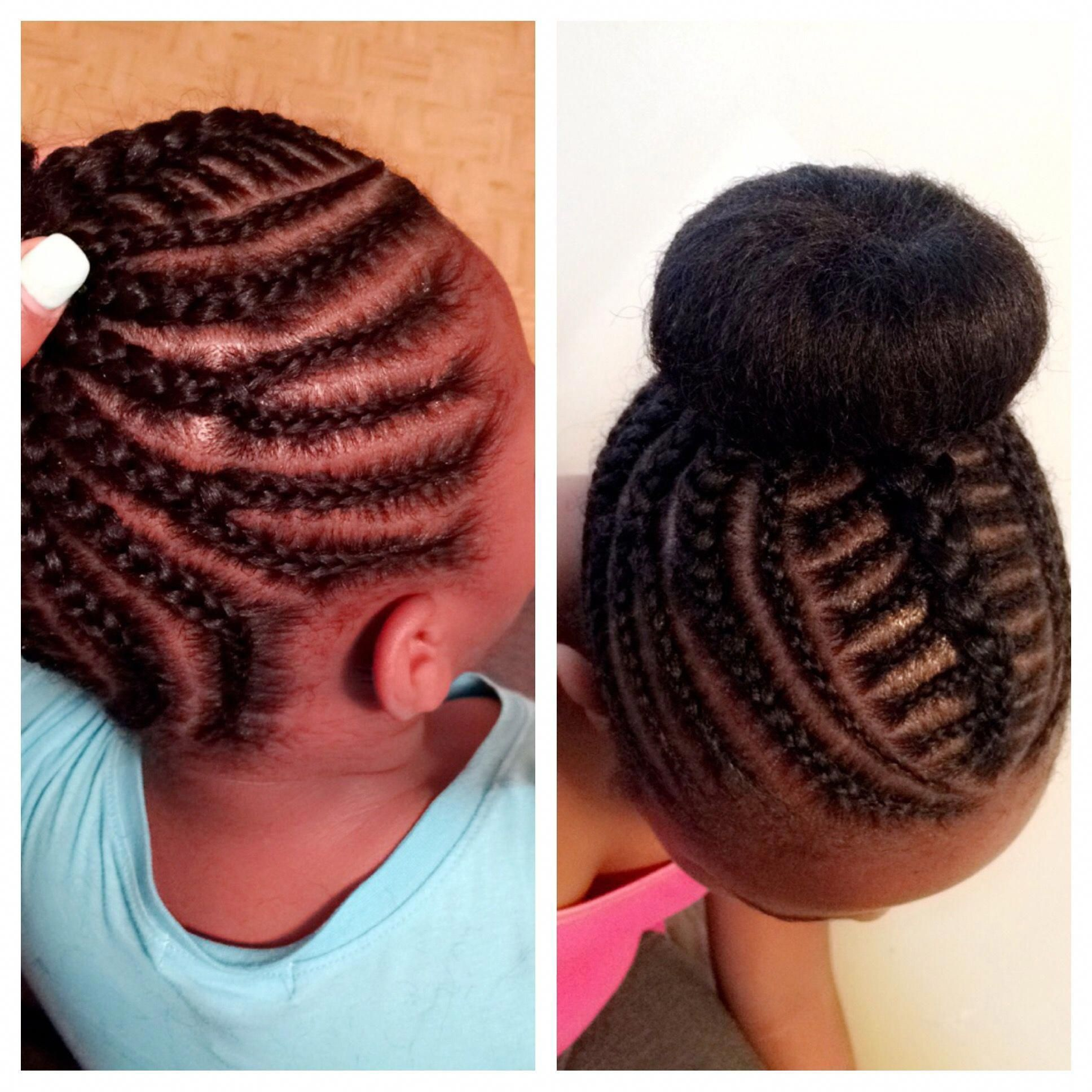 Buns for kids. Natural protective style for little girls ...
