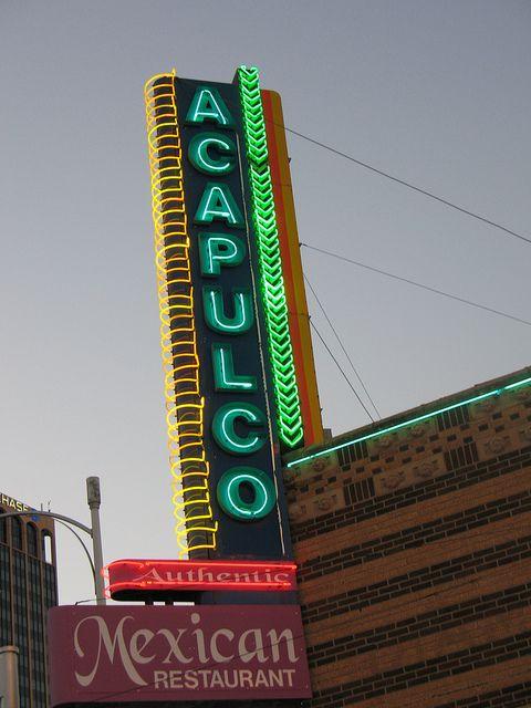 Acapulco Mexican Restaurant Sign Amarillo Tx Flickr Photo Sharing