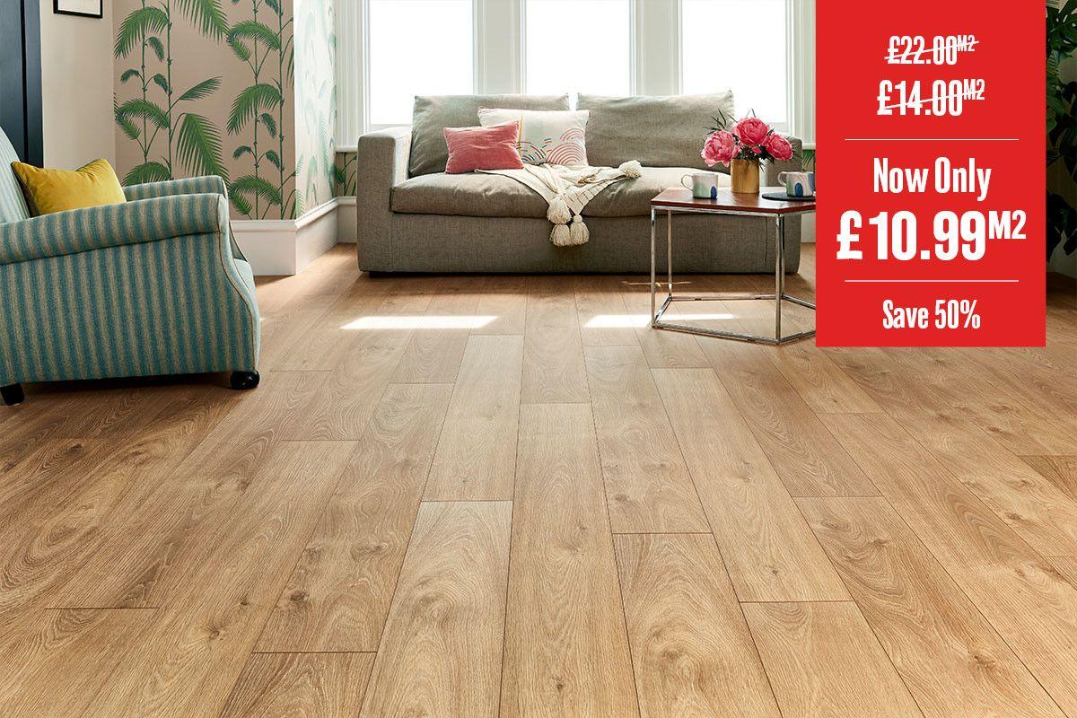 Series Woods Premium 8mm Laminate Flooring Oak Smoked