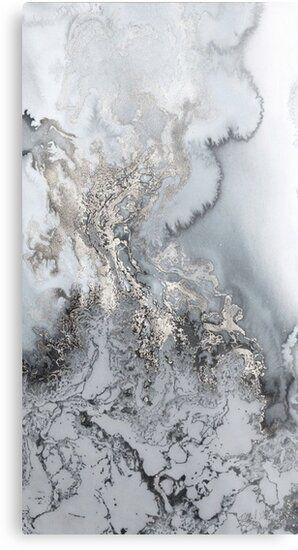unique marble rock look Metal Print