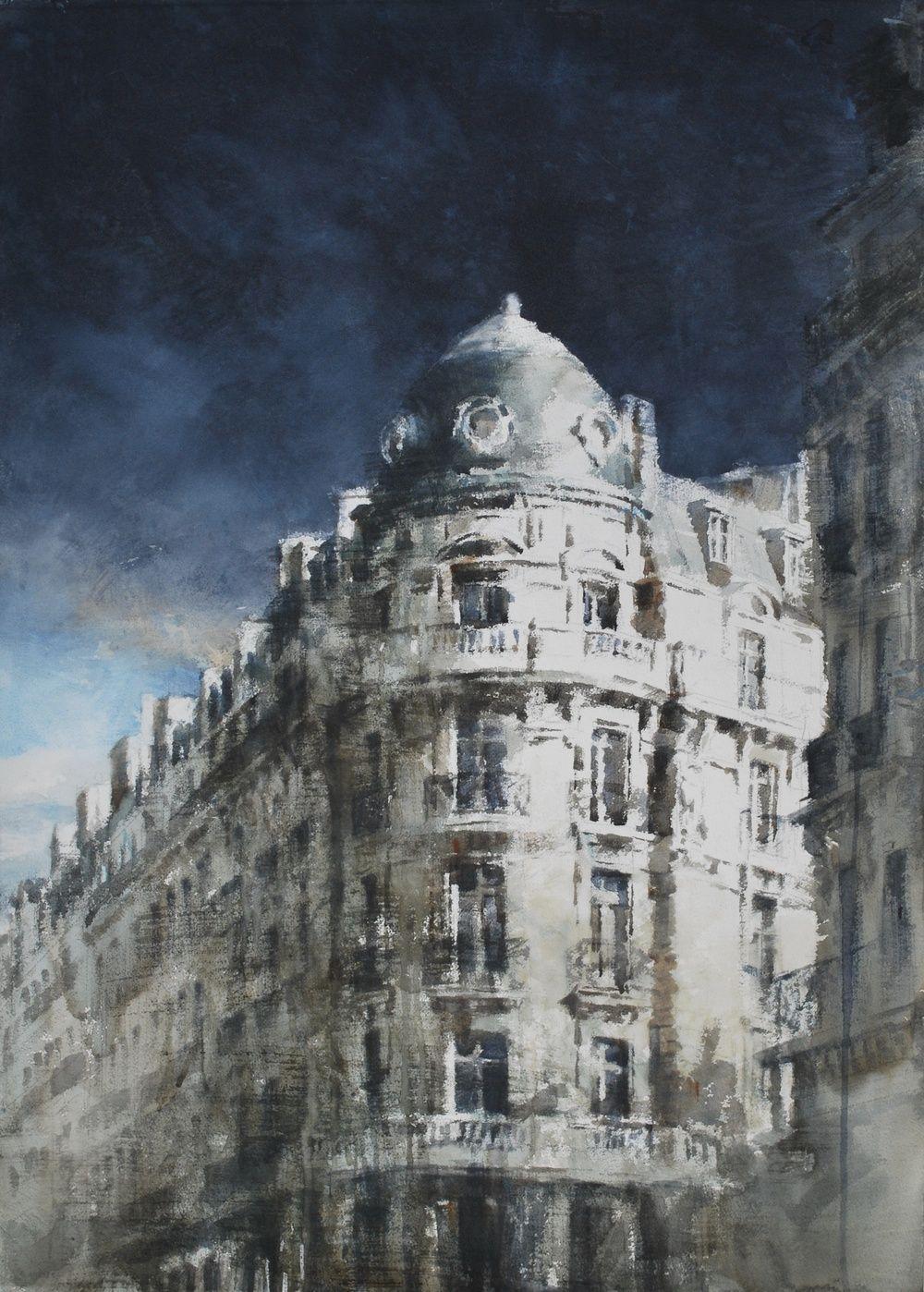 Artist Chizuru Morii Kaplan Watercolor On Paper