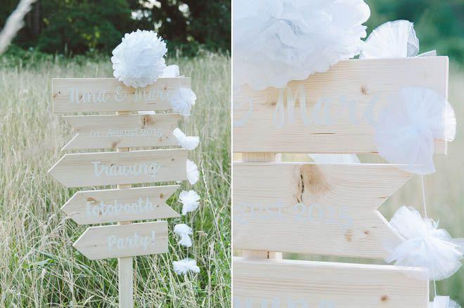 Diy hochzeitschilder selbst herstellen fr ulein k sagt ja hochzeitsblog wedding ideas for Bescheiden bader ideen 2019