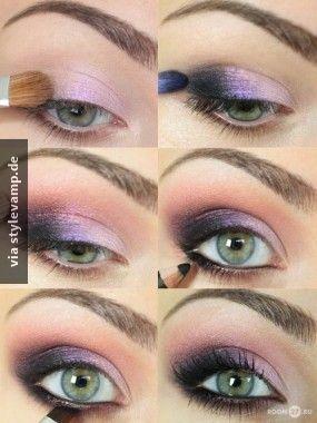 Mystisches Augen Makeup Für Grüne Augen Schminken Make Up Augen