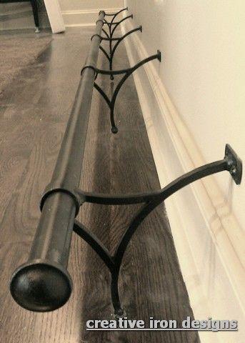 Custom Iron Foot Railing Kitchen Island Foot Rest Kitchen Design Diy Diy Kitchen Shelves