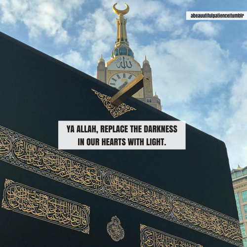 Ya Allah replace the darkness in our hearts with light. Ameen.