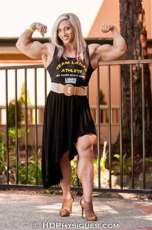 Shannon With Some Classy Huge Muscle Fbb