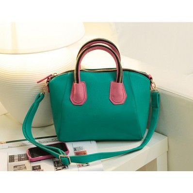 Cute and Smart Candy Color Smiling Face PU Tote