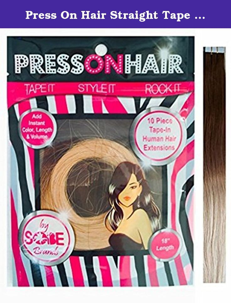 Press On Hair Straight Tape Extensions Ombre Blend 18 Inch You