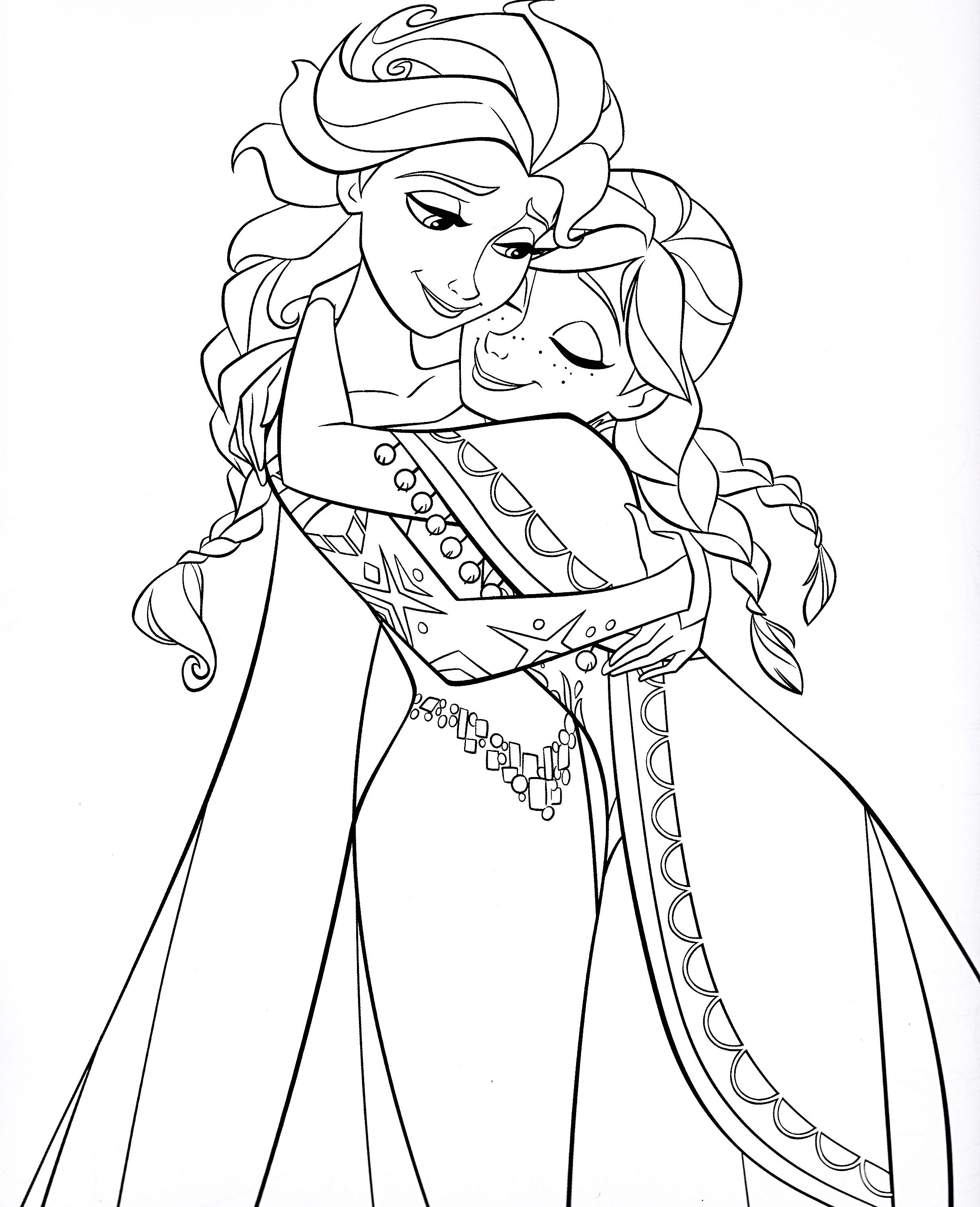 Queen Elsa Of Arendelle Coloring Pages For Girls Gambar Simpel