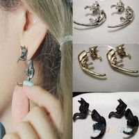 I think you'll like 1 PC Popular Long Tail Small Leopard Cat Puncture Girls And Boys Stud Earring. Add it to your wishlist!  http://www.wish.com/c/53cc266871fdae110e04d2a3