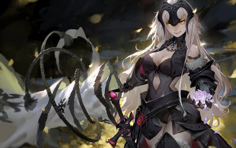 Wallpaper Artwork Black Dress Hot Fate Series Jeanne D Arc Fate Anime Series Fate Jeanne Alter