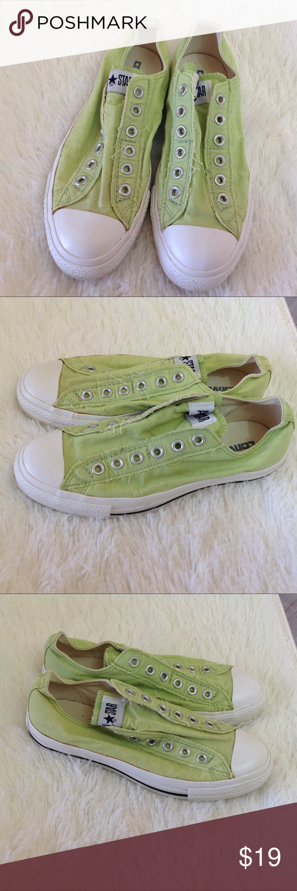b108ff4d949eea Lime Green Converse All Stars Shoe Information Maker  Converse ♥ Material   Man Made ♥
